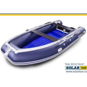 Надувная лодка Solar 420  Jet тоннель