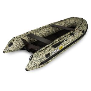 Надувная лодка Solar 420  Jet тоннель водометная (пиксель)