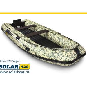 Надувная лодка Solar 420 Вега Jet тоннель водометная (пиксель)